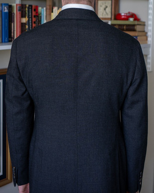 Anglo-Italian suit jacket back after alterations