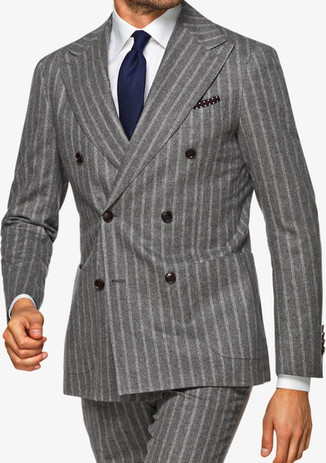 Suitsupply outlet sale: Gray suitsupply double-breasted suit