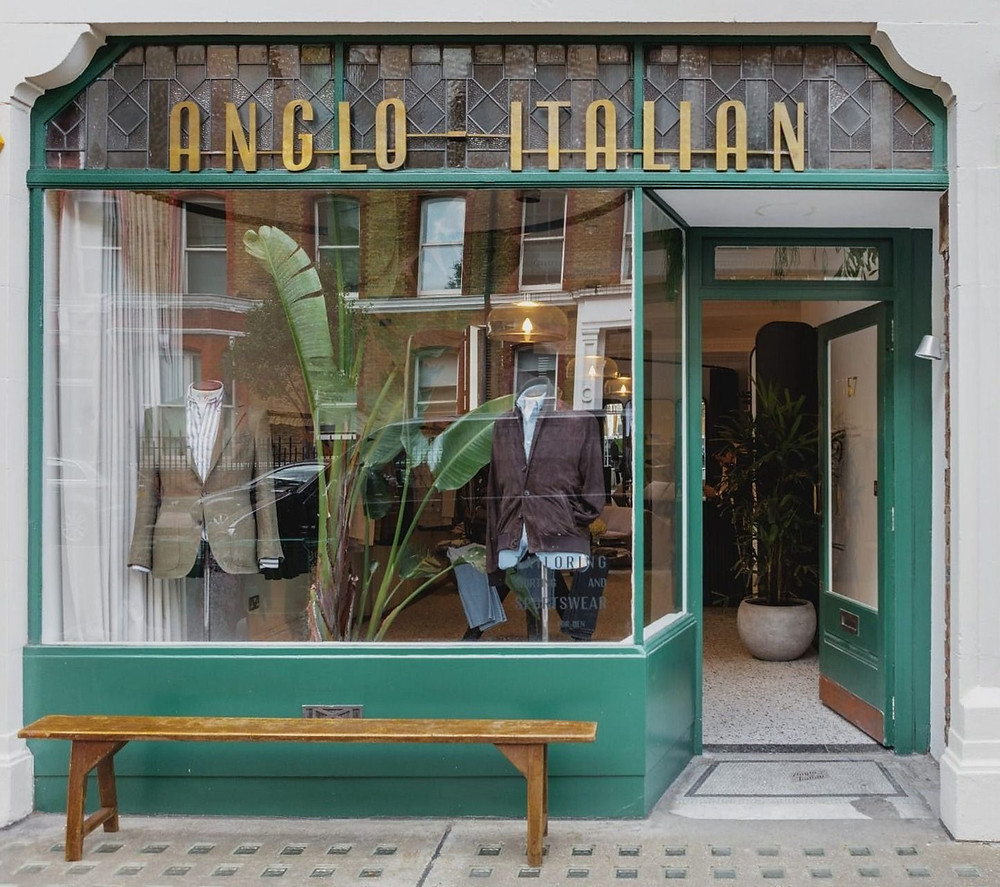 The Anglo-Italian storefront in London.