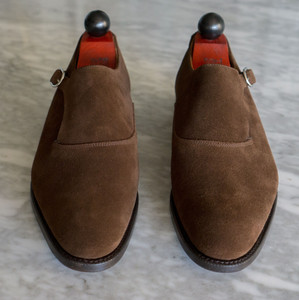 front view of J. Fitzpatrick Madrona Single Monk shoes