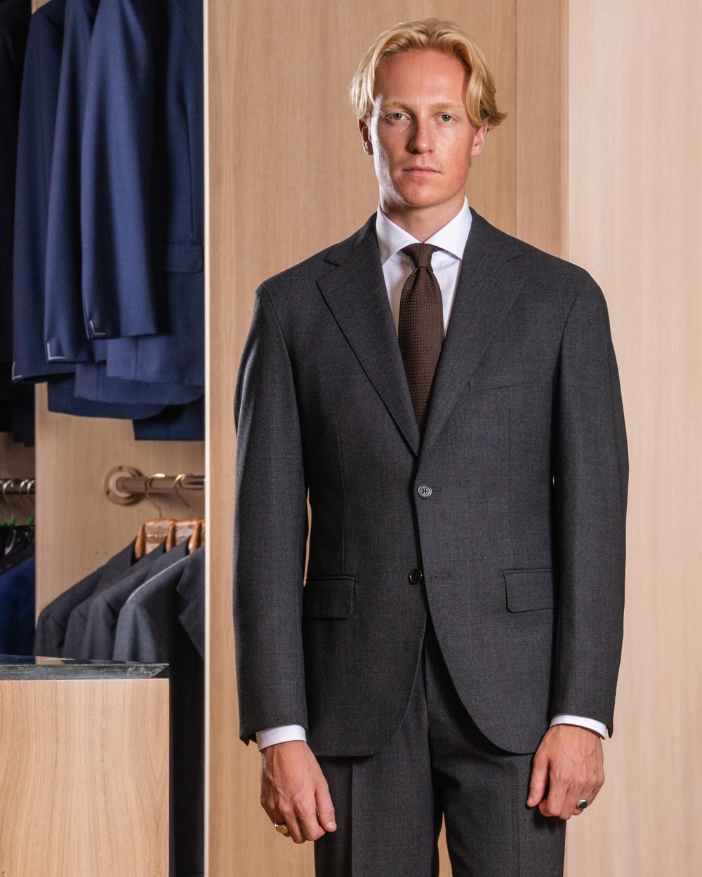 Cavour Gray Winter Hightwist Suit