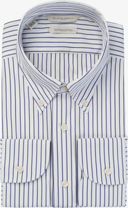 Suitsupply outlet sale: Navy striped suitsupply dress shirt
