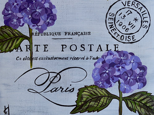 Postcards From Paris, Fleurs du Balcone, Hydrangea