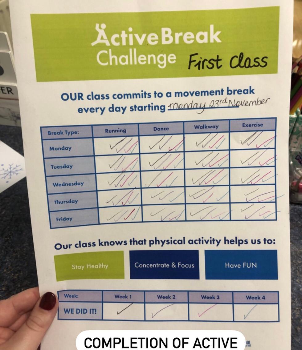 Active break challenge