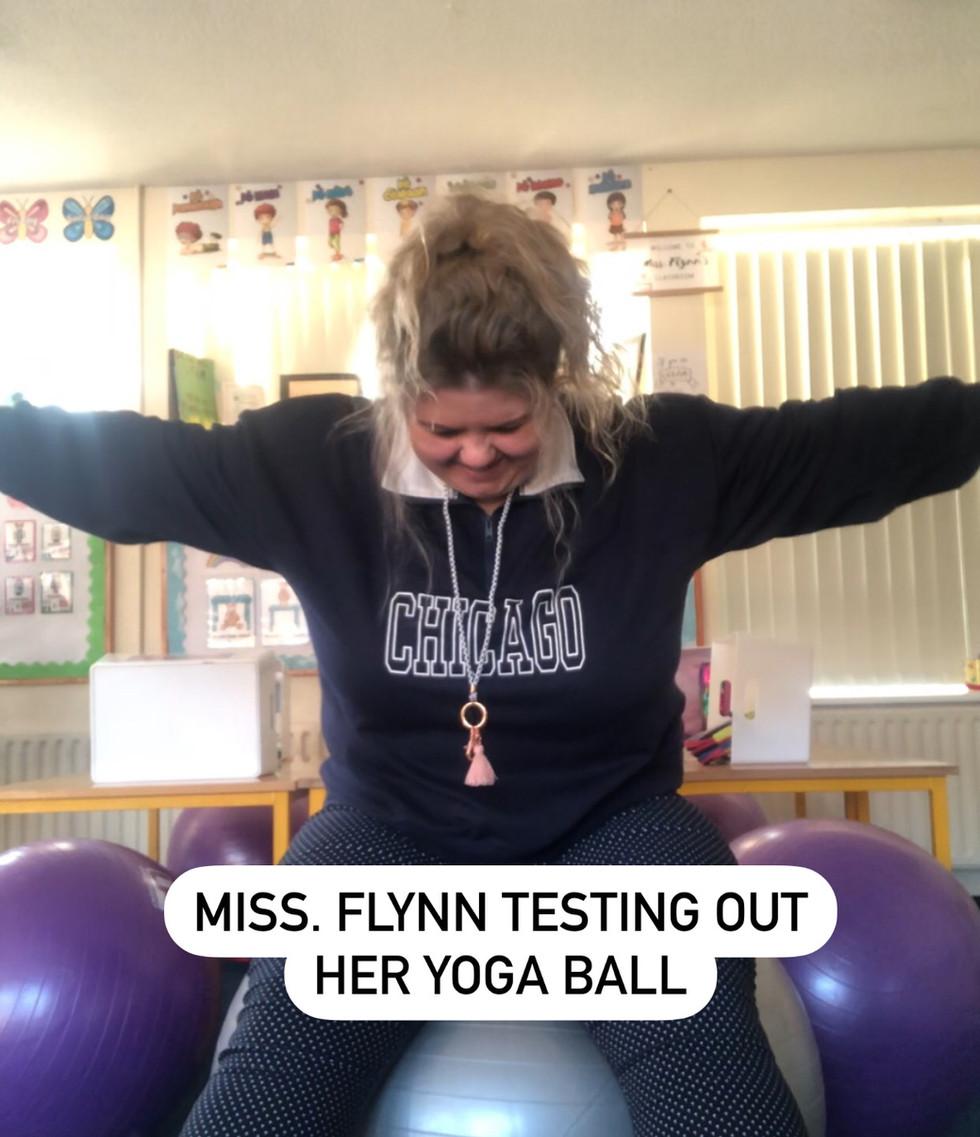 Miss Flynn & her Yoga Ball