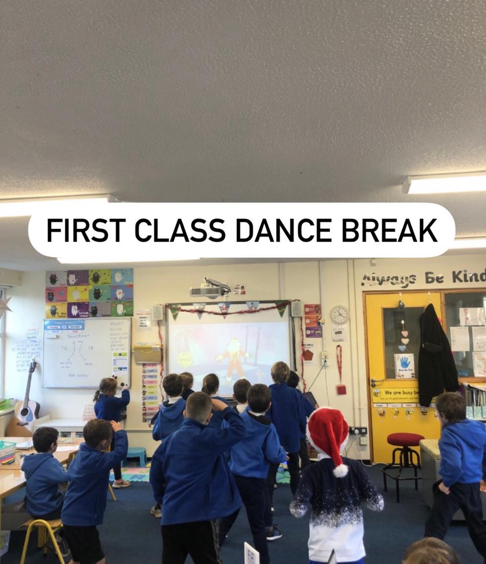 First class dance break!