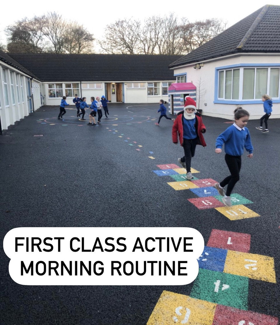 First class active morning routine