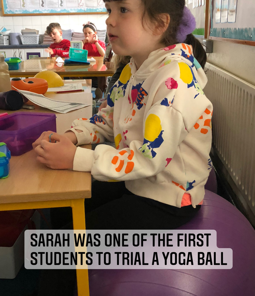 Sarah was one of the first students to trial the Yoga Ball