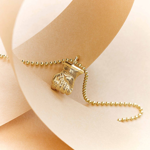 InStyle Mini & Me Select Miniatur Babyhand Gold mit Kette