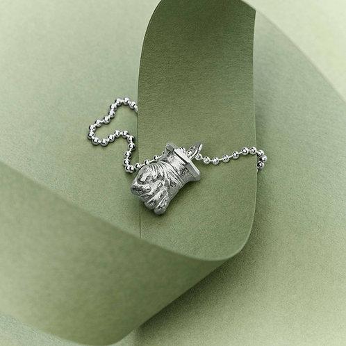 Freundin Select Miniatur Babyhand Silber mit Kette