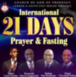 COGOP Region One 21 Days Prayer & Fasting