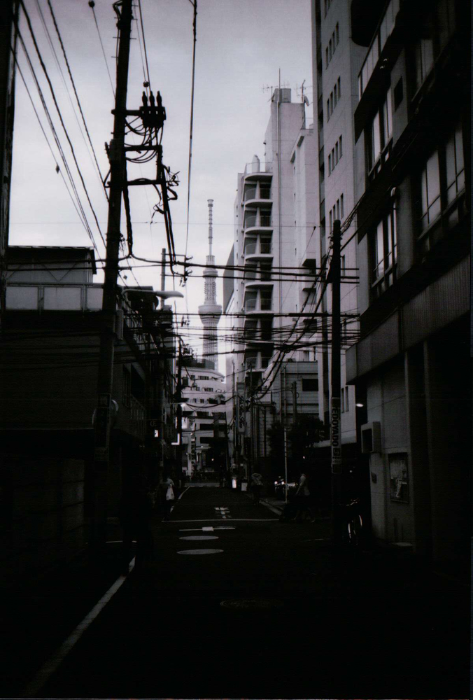 contax T-2 with T-max b&w film