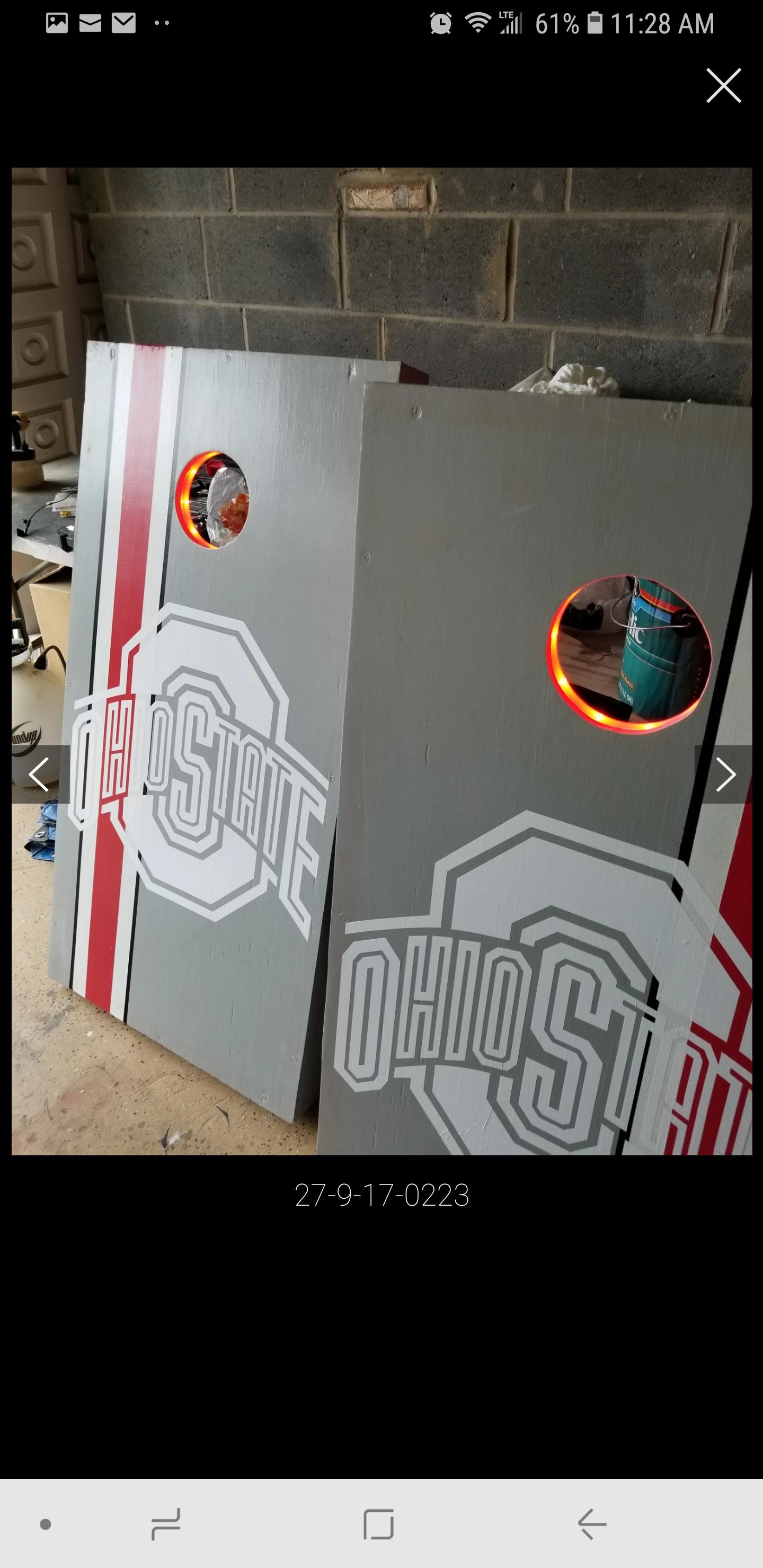The Ohio State Cornhole Set