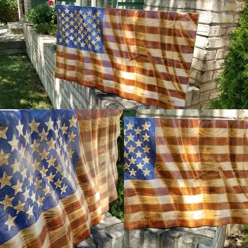 """Waves Of Grains"" 3D American Flag"
