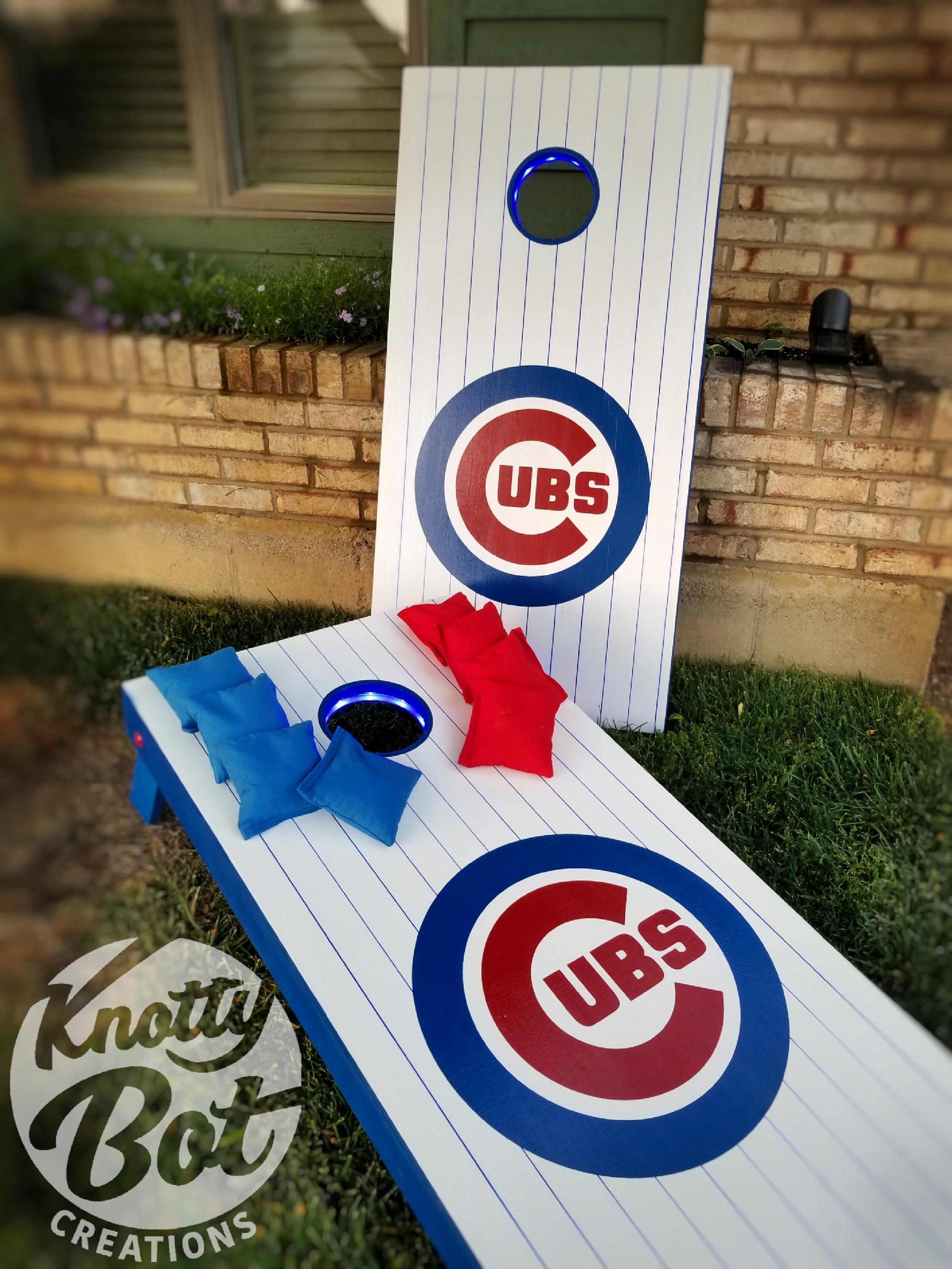 Chicago Cubs Pinstripe Cornhole Set