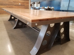 Industrial Red Oak Conference Table
