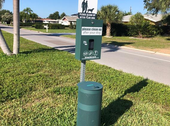 Dog Poop Bag Stations at Booker Creek