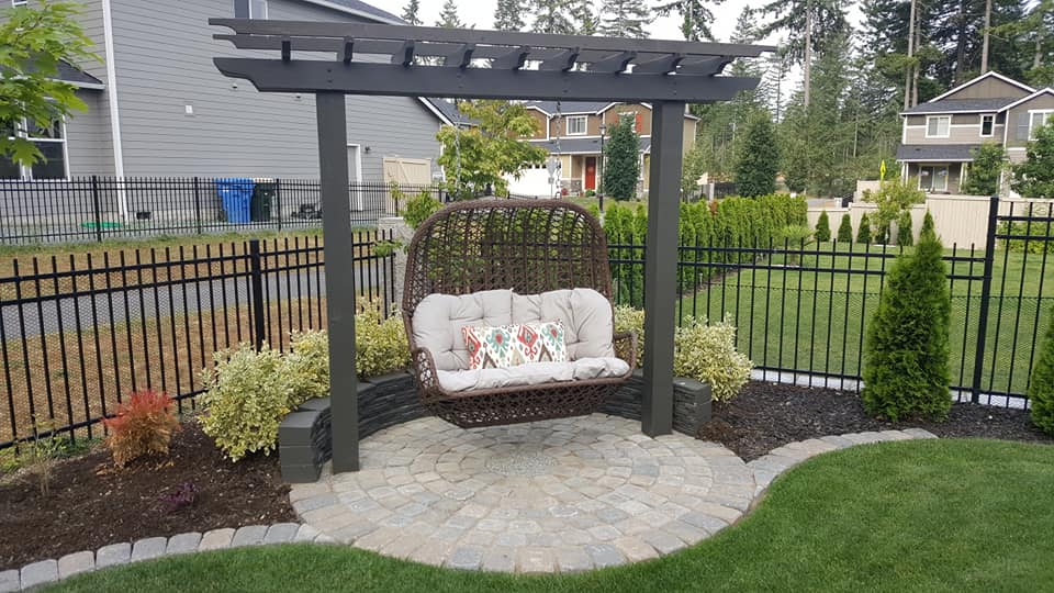 Finished swing patio