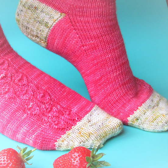 Afternoon Treats Sock Club - Strawberry Cheesecake