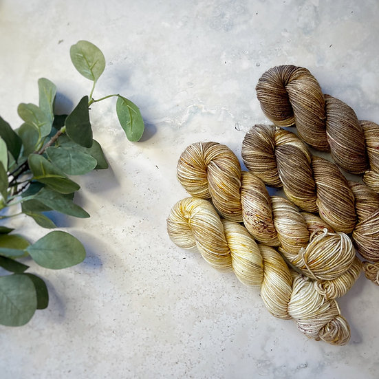 Caramel Macchiato Fade - Merino Sock 50g skeins