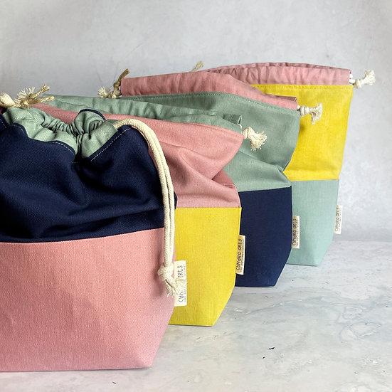 Sock Colour Block Project Bag