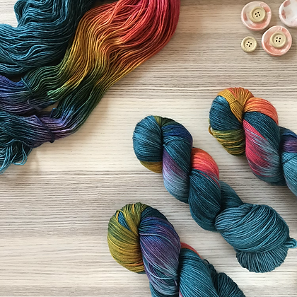 Peacock Plume - Sock & Singles - Charity Colourway