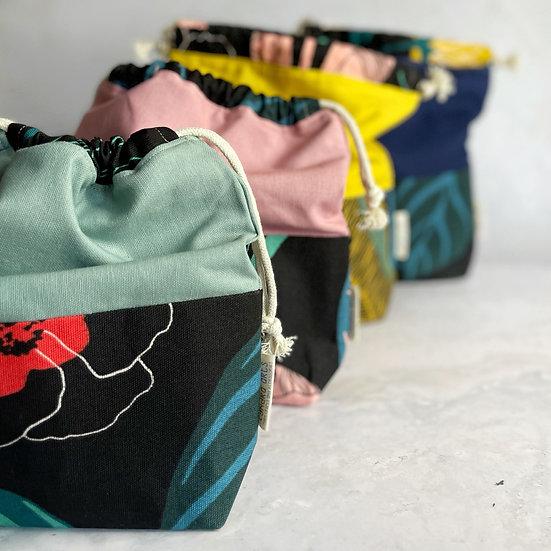 Floral Print Sock Project Bag