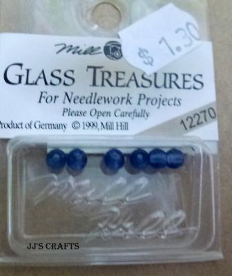 Glass treasures- Dark Blue Round