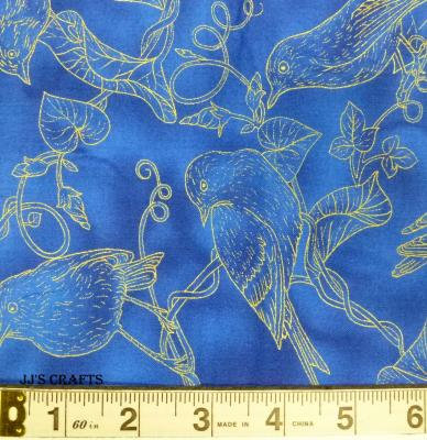 Morning Glory - Blue Toile