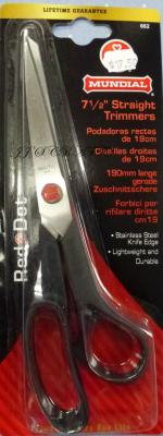 "Mundial 7.5"" straight Scissors - out of stock"