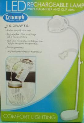 LED Floor Lamp with Clip & Magnifier