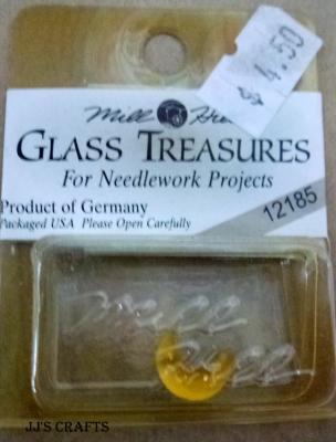 Glass treasures - Gold Cresent Moon