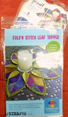 Fold 'n Stitch Leaf Topper