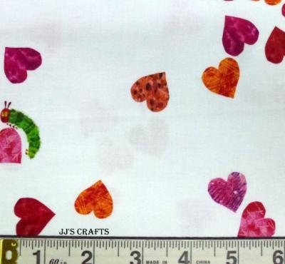 I Love U- Hearts & caterpillars