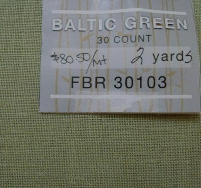 Linen - 30Ct - Baltic Green