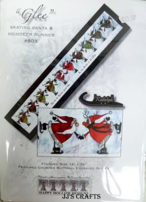 Glee-Skating Santa & Reindeer runner