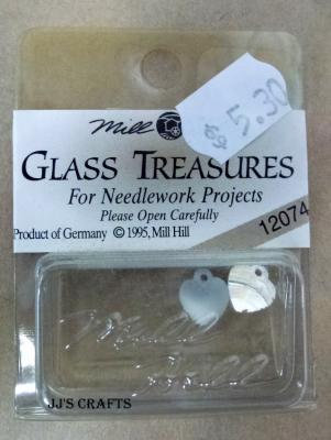 Glass treasures -Frosted Heart