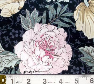 William Morris - Large Floral Black