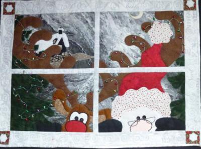 Christmas Stalkings Window Pane