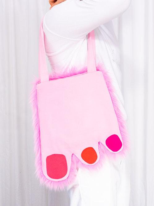 Tote: Pink Foot