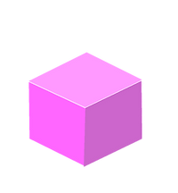 zandi dandizette blue pink art animation installation illustration square pink cube
