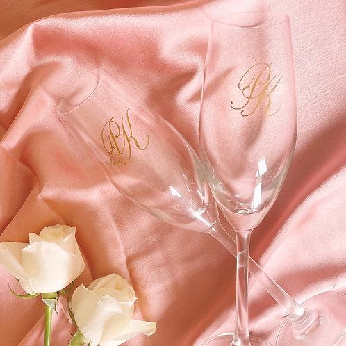 Custom Engraved Champagne Flute