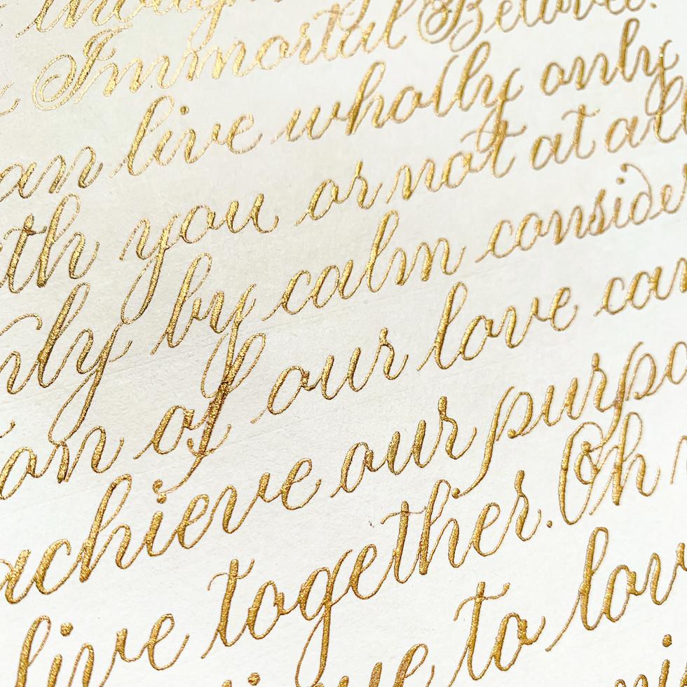 Gold on Ivory Letter