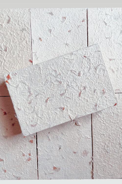 Petal Infused Handmade Cotton Paper Box