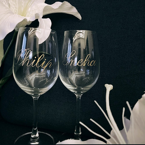 Customized Engraved Glasses
