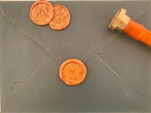 With Love - Self Adhesive Wax Stamp (5)