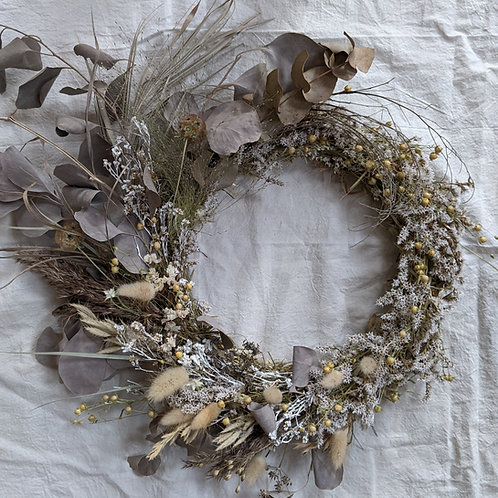 Full dried wreath - Neutral (postal delivery option)
