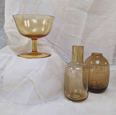 amber glass vessels