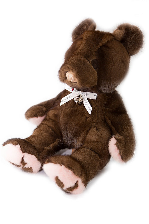 BABY TEDDY VISON - chocolat & rose