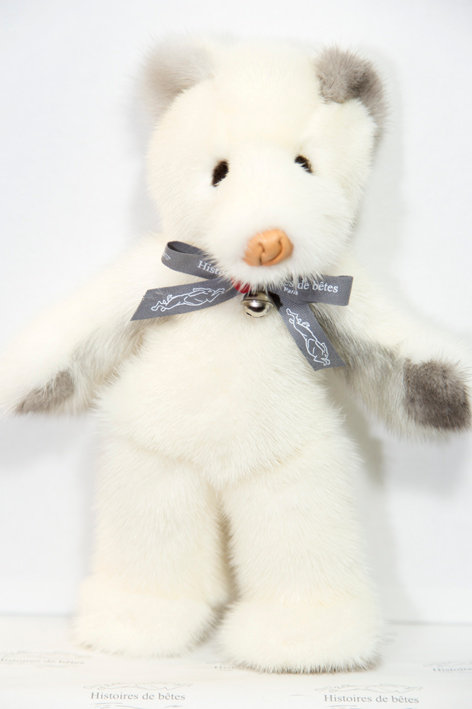 BABY OURSON SNOW - blanc & gris